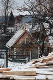 Russian bath in winter stock photos