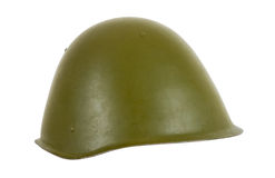 Russian battle helmet Stock Photo