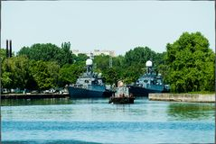 Russian battle ships Royalty Free Stock Photos
