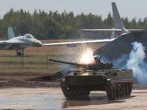 Russian battle tank Royalty Free Stock Photos