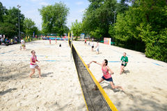 Russian beach tennis championship 2015 Royalty Free Stock Photo