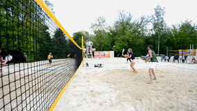 Russian beach tennis championship 2015 stock video footage