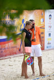 Russian beach tennis championship 2015 Royalty Free Stock Photography