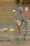 Russian bear in magnificent manor house - Village Shuvalovka Stock Photo