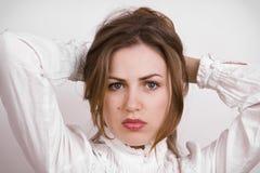 Russian beautiful woman. Portrait of a beautiful Russian woman Royalty Free Stock Photo