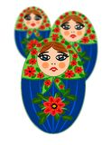 Russian beauty wooden dolls Royalty Free Stock Image