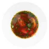 Russian beet-root soup Royalty Free Stock Images