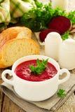 Russian beet soup. Stock Photos
