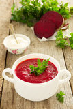 Russian beet soup. Stock Image