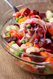Russian beetroot salad Stock Photos