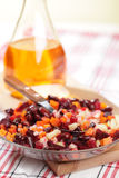 Russian beetroot salad royalty free stock photography