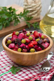 Russian beetroot salad vinaigrette, vertical Royalty Free Stock Image