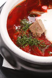 Russian Beetroot Soup Stock Images