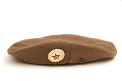 Russian beret. Picture of a russian beret Royalty Free Stock Photography