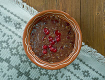 Russian  berry dessert Royalty Free Stock Photography