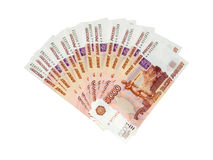 Russian  big money. Royalty Free Stock Photo