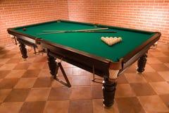 Russian billiard. Very nice russian billiard table Royalty Free Stock Photo