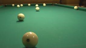 Russian billiard. stock video