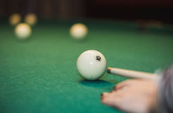 Russian billiard game Stock Images