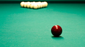 Russian billiard table with balls Stock Photos