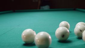 The Russian billiards are balls.  stock video footage