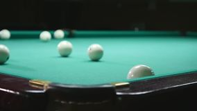 The Russian billiards are balls.  stock footage