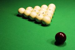 Russian Billiards. Billiard balls on green. Royalty Free Stock Photos