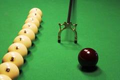 Russian Billiards. Billiard balls on green. Royalty Free Stock Photography