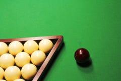 Russian Billiards. Billiard balls on green. Stock Images