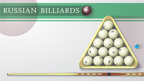 Russian billiards business card. Stock Image