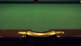 Russian Billiards game stock footage