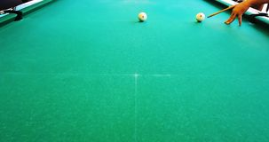 """Russian billiards. Interesting beats. """"Own"""" comes back to a pocket after a collision with a """"stranger stock video footage"""