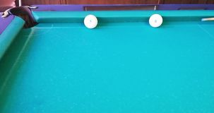 Russian billiards. Interesting beats. `Own` clings to the board and falls into the pocket after a collision with a `stranger stock footage