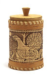 Russian birch bark box for honey Royalty Free Stock Image