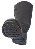 Russian black army boots Royalty Free Stock Images