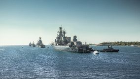 Russian Black Sea Fleet Royalty Free Stock Photography
