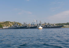 Russian Black Sea Fleet in the port Royalty Free Stock Photos