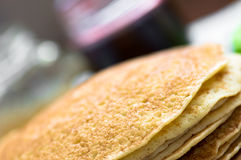 Russian blini close. The angle of the background jam stock photos