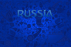 Russian blue background, vector illustration Stock Image