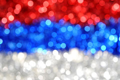 Russian blurs. Blured russian flag fron christmas decorations Stock Photography