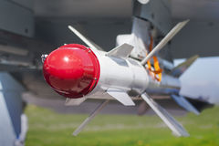 Russian bomber close up. Royalty Free Stock Photo