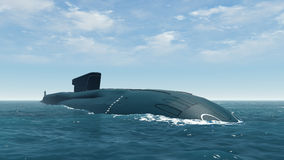 Russian Borei Class Submarine Close Up Royalty Free Stock Photo