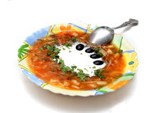 Russian borsch Royalty Free Stock Image