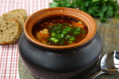 Russian borscht soup Royalty Free Stock Image