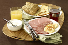 Russian breakfast Stock Photography
