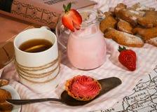 Russian breakfast table Stock Photos