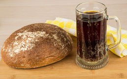 Russian brew in mug and bread Royalty Free Stock Photos
