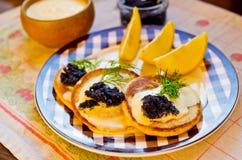 Russian buckwheat pancakes Stock Photography