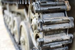 Russian BWP-2 Troop Carrier Tracks Royalty Free Stock Photography