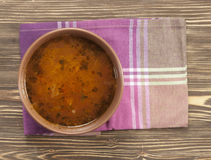 Russian cabbage soup Shchi Royalty Free Stock Image